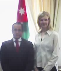ambassador of jordan with World Peace Tracts